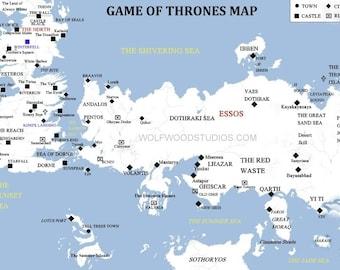 Karte Westeros Essos Deutsch.Game Of Thrones Map Etsy