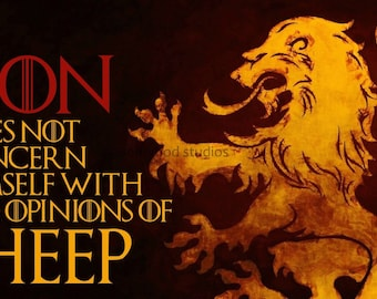 Lion Sheep Quote Etsy