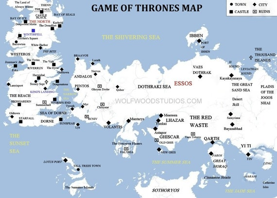 Game of Thrones Map Essos Kings Landing Castle Black Winterfell Westeros Game Of Tgrones Map on