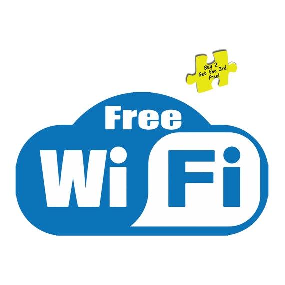 Free WiFi Sign Sticker BUY ONE GET ONE FREE