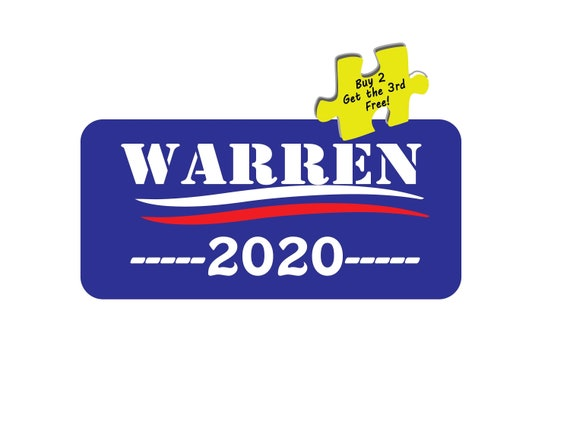 Elizabeth Warren 1// 2020 For President Decal Sticker
