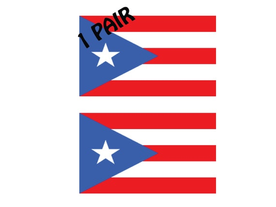Puerto Rico  Flags  Decal Sticker 1 Pair p137 2