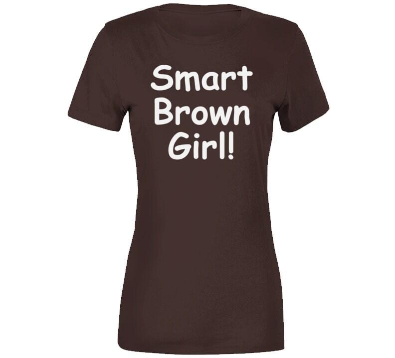 Vintage Aprons, Retro Aprons, Old Fashioned Aprons & Patterns Smart Brown Girl T Shirt $18.99 AT vintagedancer.com