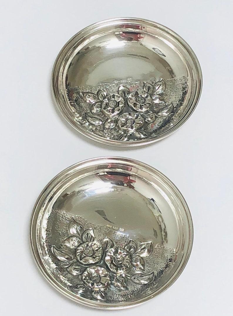 Vintage  Art Nouveau Repousse  Silver plate  Small Bon Bon  or Nut Dish.