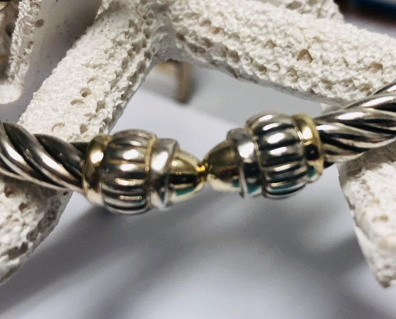 FLLI Menegatti    Sterling  Silver  925-18K gold  classic cable hinged bracelet