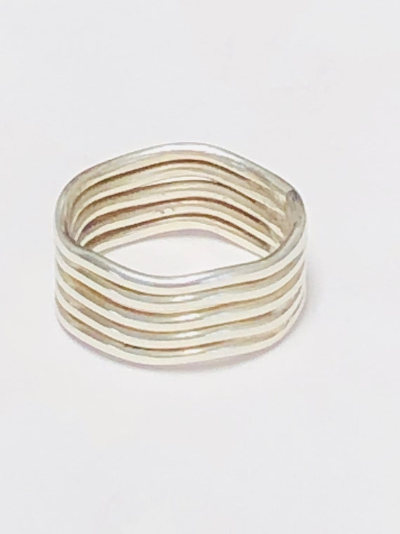 Mexican Sterling Silver Crested Wave Cigar Band ri