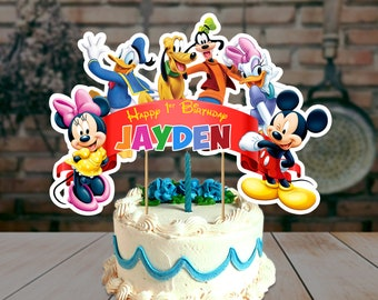 Mickey Mouse Clubhouse Cake Topper Birthday Theme