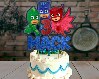 PJ Mask Cake Topper Pj Birthday Theme Party