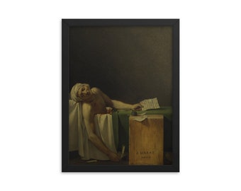 1793 David Art Canvas//Poster Print A3//A2//A1 Death of Marat
