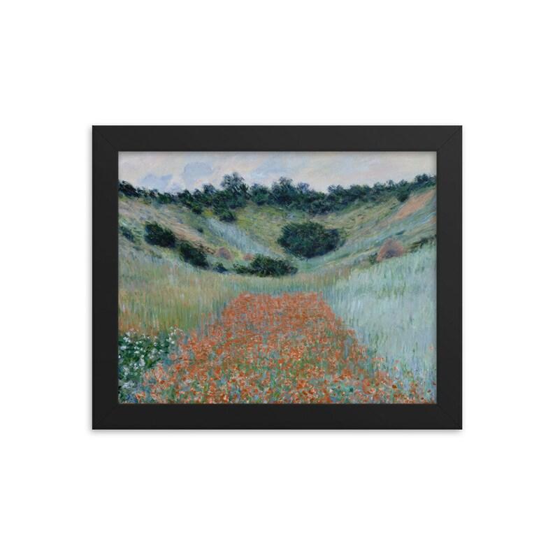 Poppy Field in a Hollow near Giverny 1885  Framed Art Print Claude Monet