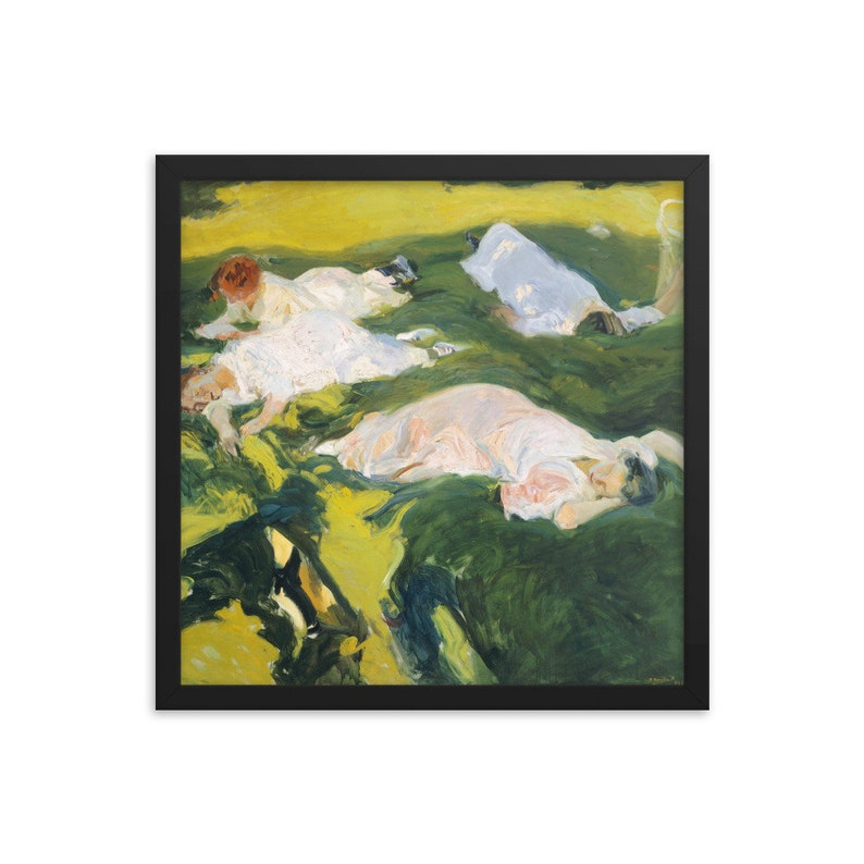 Joaqu\u00edn Sorolla La Siesta 1911  Framed Art Print