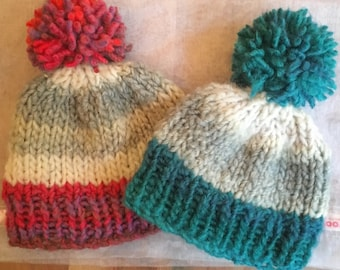 ab80f5d759c Baby and toddler bobble hats