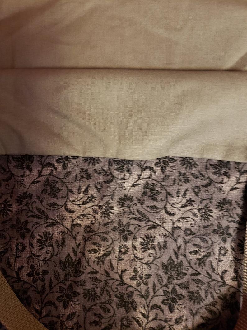 Reusable bag; Gray Floral