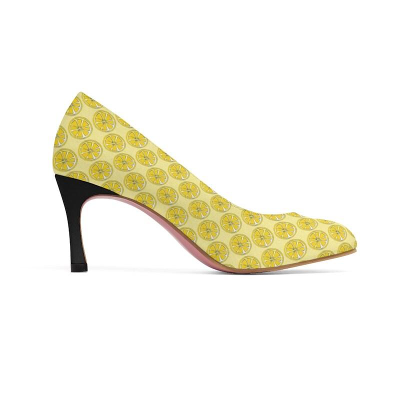 Lemon Womens high heels unique heels Vegan Heels alternative shoes
