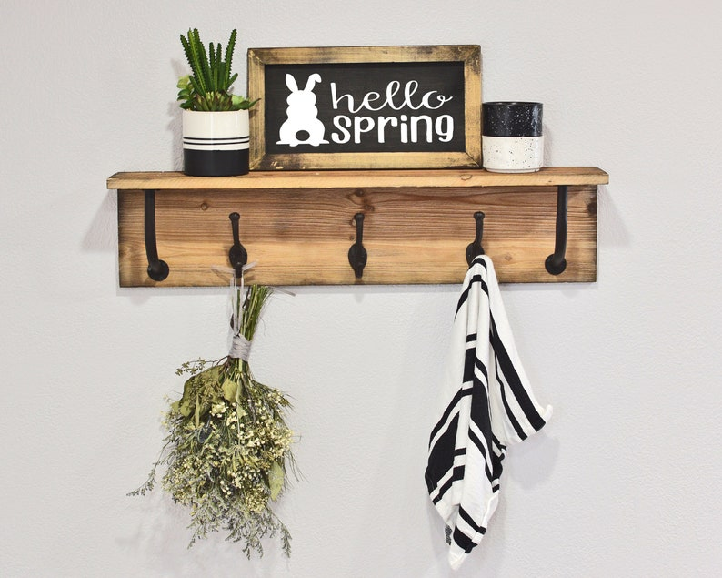 Easter Wall Decor Hello Spring Wood Sign Easter Sign Wall Decor Wooden Sign Spring Sign Hello Spring Sign Easter Gift Home Decor