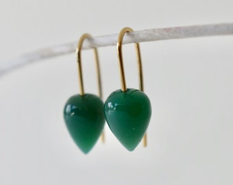 10 Matched Pairs Calibrated size 12x12 mm Faceted Heart Briolett Total 20 pcs Gorgeous Green Prehnite CHALCEDONY