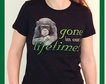 PASA Gone In Our Lifetime T-shirt for Primate Conservation - Support the Pan African Sanctuary Alliance!
