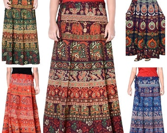 9b3af2076ab 5 Pc Lot Mandala bohemian Cotton skirts