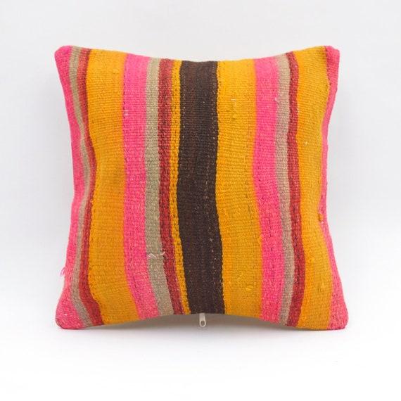 Decorative Pillow Outdoor Pillow Turkish Kilim Pillow Cushion Cover Kilim Pillow Cover A515 Boho Pillow 16x16 Throw Pillow
