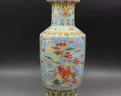 Qing Dynasty Kangxi Style Famille Rose Fencai Porcelain Big Mallet Vase,China Vintage ceramic collection Chinese Antiques Porcelain