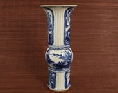 Minguo Made Blue and White Porcelain Vase,Rare China Imperial Art Vintage ceramic Collection Chinese Antiques Porcelain Christmas Gifts