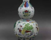Chinese Ming Dynasty Chenghua Style Doucai Porcelain Vase Decorate with Dragon,Exclusive Vintage Chinese Art Antique Guan Ware Ceramic