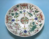 Qing Dynasty Guangxu Style Famille Rose Porcelain Plate.Rare China Imperial Art Vintage ceramic Collection Chinese Antiques Porcelain