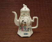 Chinese Antique Late Qing Dynasy Tangzizhen Famille Rose Fencai porcelain Teapot.Rare China Imperial Art Vintage ceramic Collection