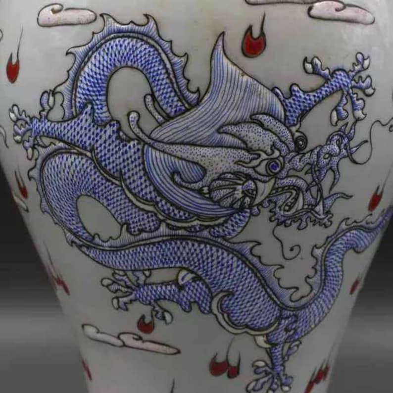 Chinese Antiaue Qing Dynasty Kangxi Guan Ware Style Famille Rose Fencai Porcelain Big Mallet Vase,China Vintage ceramic collection