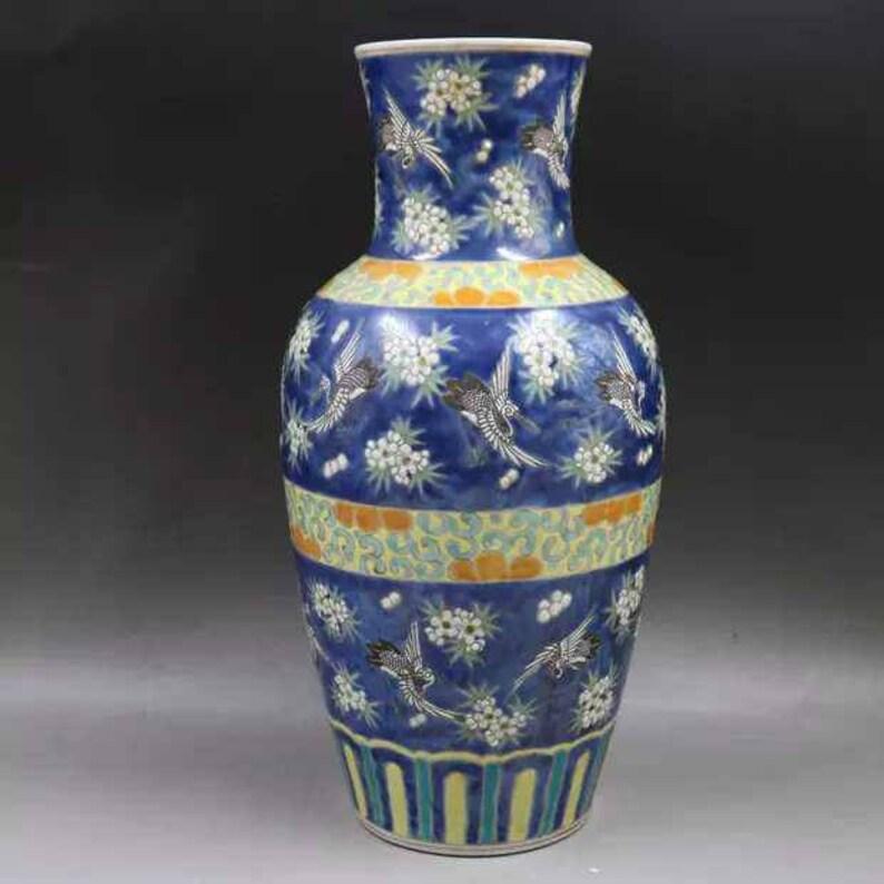 Chinese Antiaue Qing Dynasty Kangxi Guan Ware Style Famille Rose Fencai Porcelain Big Jar,Jug,Pot,China Vintage ceramic collection