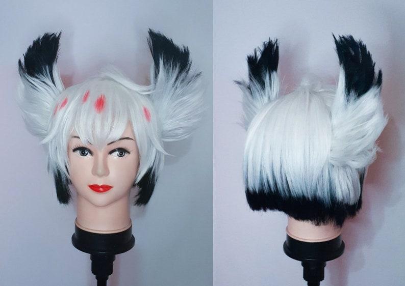 MADE TO ORDER Alastor inspires from Hazbin Hotel Cosplay Wig Angel Dust