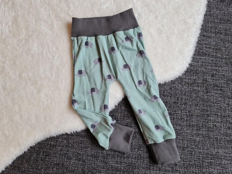 Pump pants Elephant mint  Size 74  Baby pants  image 0