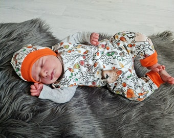 Autumn love | Baby romper double-layered | Autumn - Spring - Transitional period