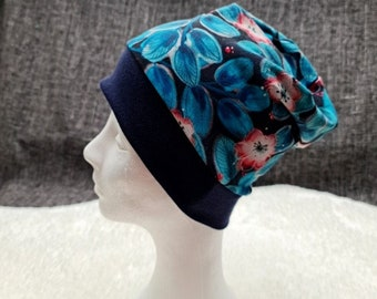 Night flowers | Cap with cuffs | Autumn - Spring - Transitional period