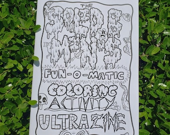 "Coloring Activity Ultra Zine! 7"" x 10"""