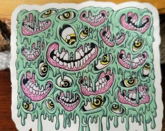 Slime Box Sticker (Clear Border)