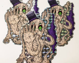 """Flesh Magician 4"""" Prismatic Sticker"""