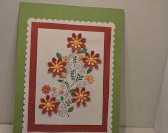 Handmade Greeting Card - Spring Flowers