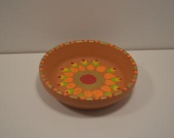 Hand painted Terracotta Tealight Holder  (Set of 4)