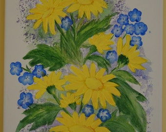 Flowers in acrylic on canvas