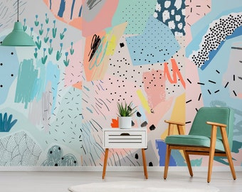 Removable Wallpaper Peel and Stick Wallpaper Wall Paper Wall Mural - Abstract Pop Wallpaper