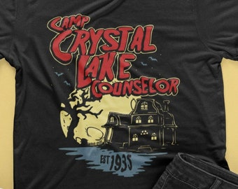 cd473c8af Camp Crystal Lake Counselor T-Shirt For Jason Voorhees Fans // Vintage  Retro Horror Shirt // Friday the 13th Fans // 80's Horror Movie Fans