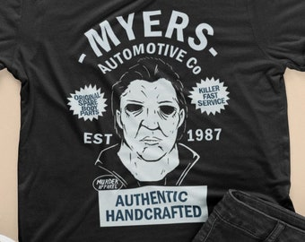 397eba5d45351f Michael Myers Automotive T-Shirt    Mike Myers T-Shirt    Halloween Movie  Fans