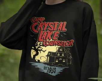 Camp Crystal Lake Counselor Sweatshirt For Jason Voorhees Fans // Vintage Retro Horror Shirt // Friday the 13th Fans