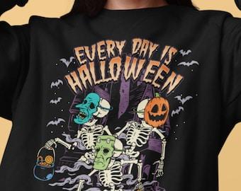 Every Day Is Halloween Trick Or Treat Retro Fall Sweatshirt