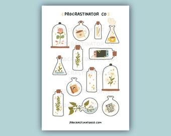 Cute Things In Jars & Bottles Sticker Sheet