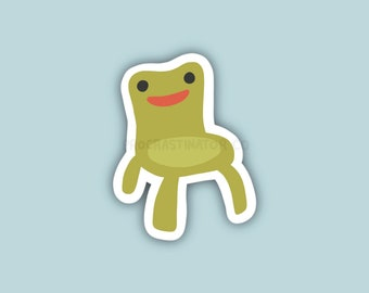 Froggy Chair Sticker