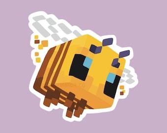 Cute Minecraft Bee Sticker