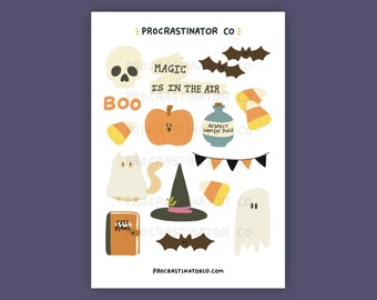 Halloween Things Sticker Sheet