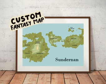 Custom illustrated fantasy map commission - Dungeons & Dragons and Tales from The Loop custom maps